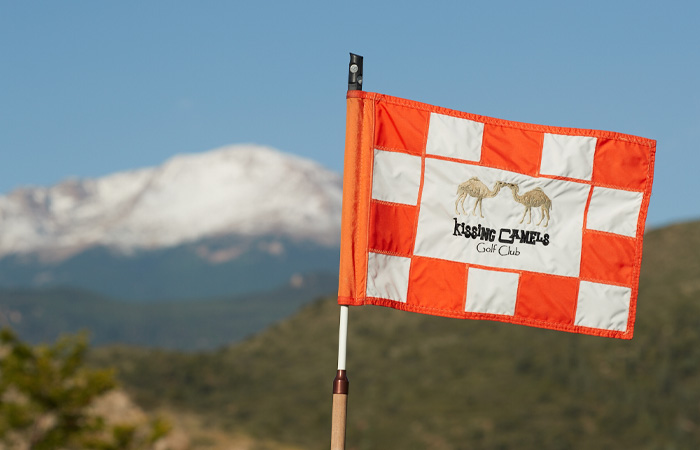 Flag at Kissing Camels - Garden of the Gods Resort & Club