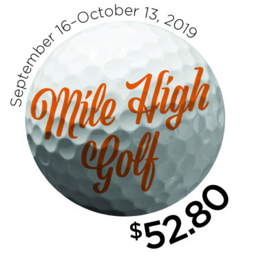 Mile High Golf at $52.80 logo