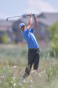 2019 CoBank Colorado Open Champion Sam Saunders swings