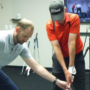Purcell in a GOLFTEC lesson