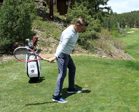 Alex Fisher shows you how to draw the ball with a tennis racket.