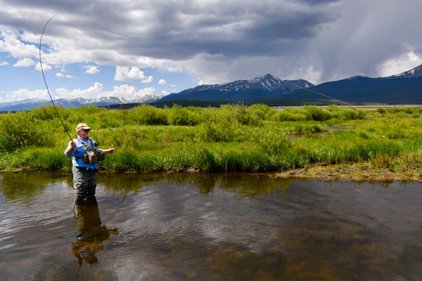 Charles Duke back in the river after surgery at the Steadman Hawkins Clinic Denver