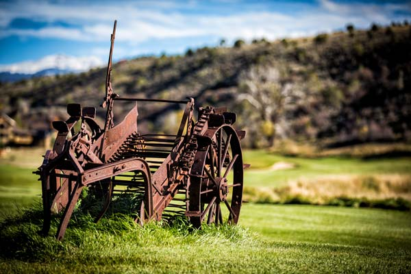 Ranch equipment on the golf course at Eagle Ranch