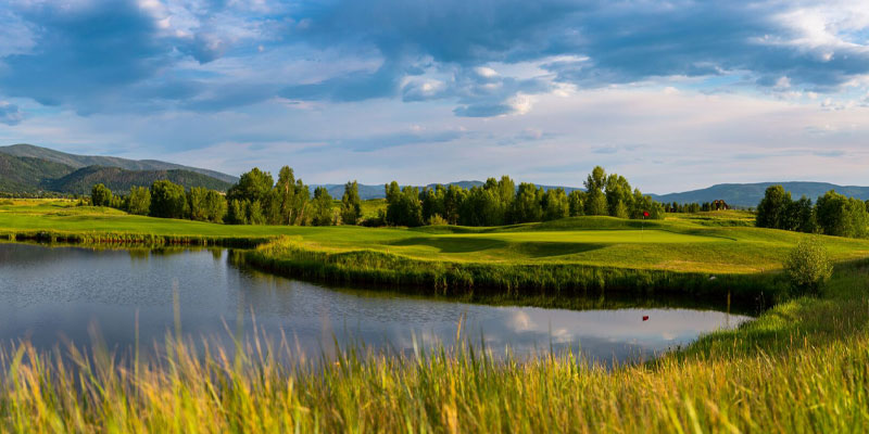 Beautiful Haymaker Golf Course in Steamboat Springs, Colorado.