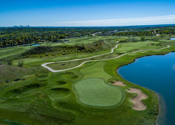 Homestead Golf Course, No. 15 by Premier Aerials