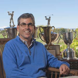 Kent Moore with his trophies.