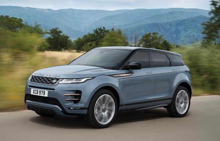 Slate blue 2020 Land Rover Evoque