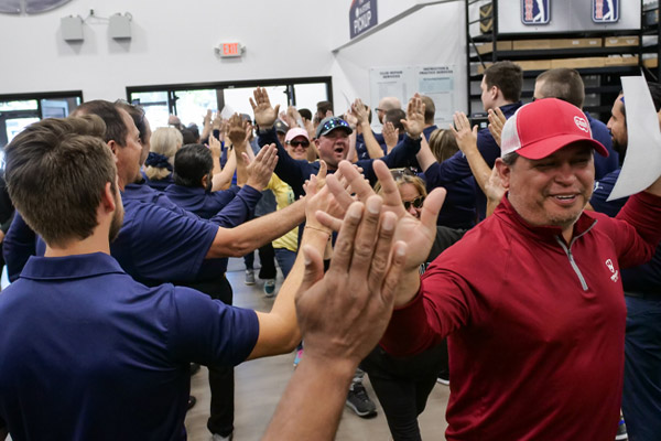 The grand opening at the PGA TOUR Superstore in Westminster, Colorado
