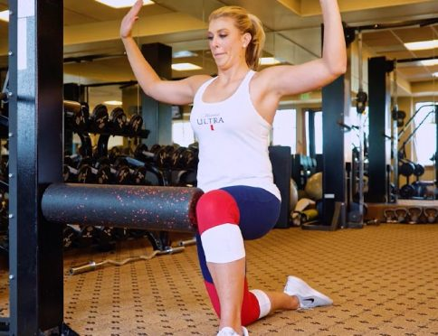Rotation Over Knee exercise performed by Elizabeth Martin.