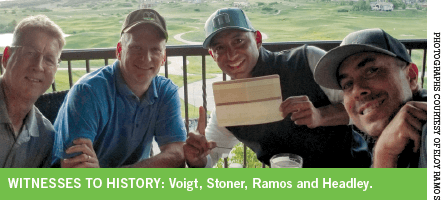 Voigt, Stoner, Ramos and Headley at The Club at Pradera.