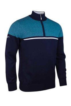 g.Corrie: Zip Neck Birdseye Stripe Flash Sweater