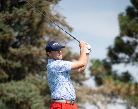 Nick Nosewicz of Aurora tees off at the U.S. Mid-Amateur