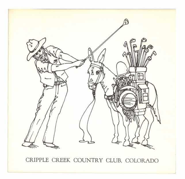 Old Cripple Creek Country Club scorecard