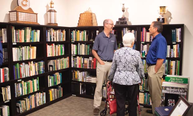The CGA's Ed Mate with guests at the Dan Hogan Golf Library