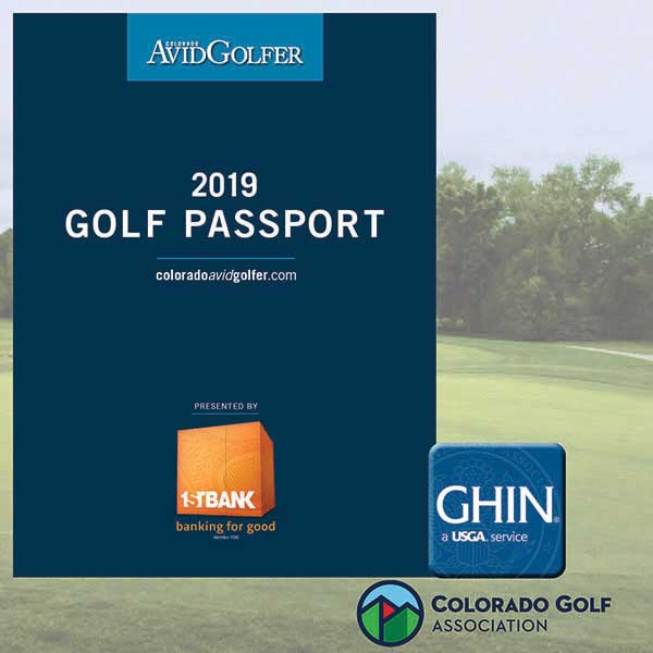 2019 Golf Passport Plus from Colorado AvidGolfer
