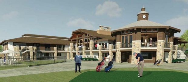 A CGI rendering suggests how the rear of the clubhouse will look next year.