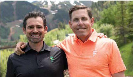 GolfForever founders Dr. Jeremy James and pro golfer Justin Leonard.