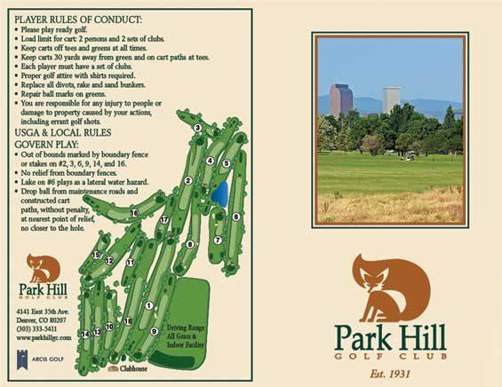 Old Park Hill Golf Club scorecard