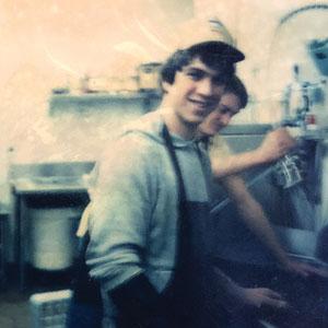 "Tim Shantz when he was a ""dishdog"" at Le Peep in Boulder"