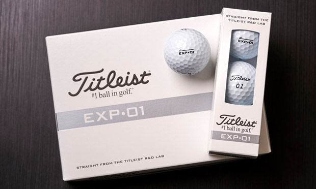 Titleist's new experimental EXT-01 golf ball