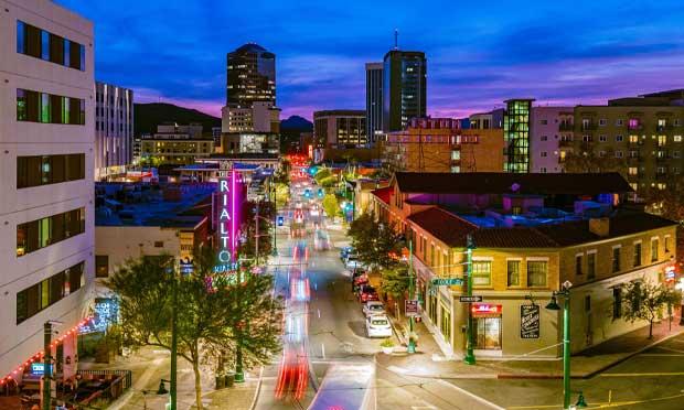 Tucson, Arizona at night