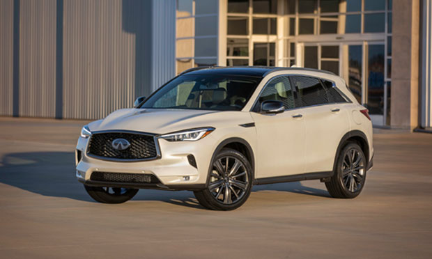2019 Infiniti QX50 in white