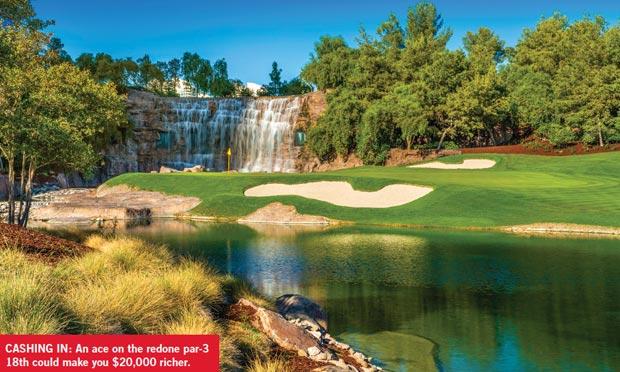 The 18th hole at Wynn Golf Club