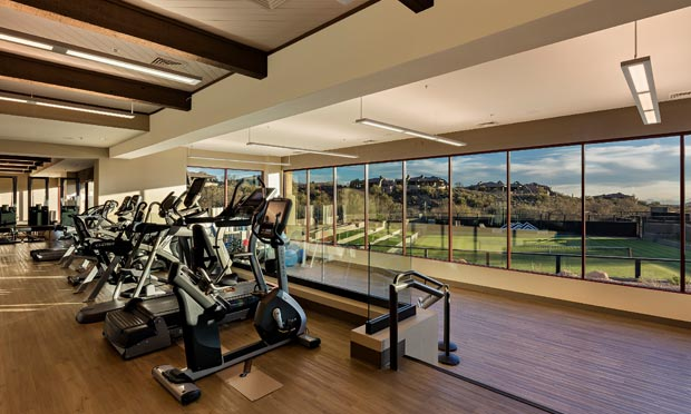 Gym views at Desert Mountain