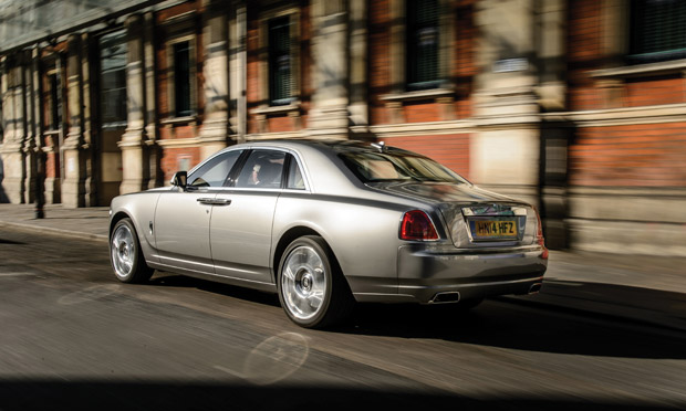 The rear of the Rolls-Royce Ghost Series II