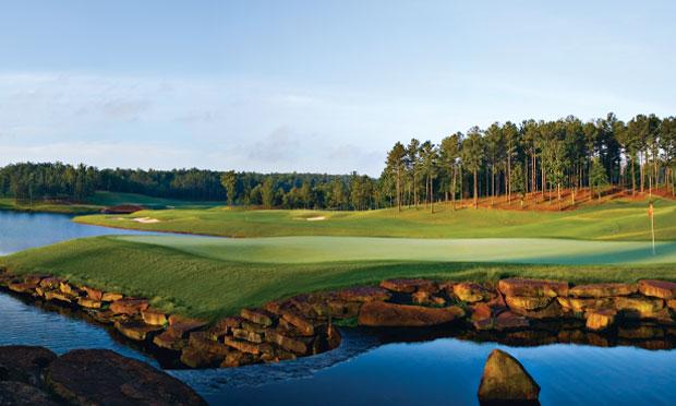 The 18th at Birmingham's Ross Bridge Golf Resort