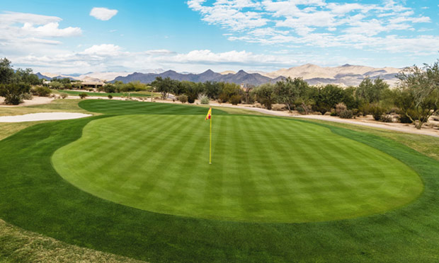 A greenside shot from Tonto Verde in Arizona