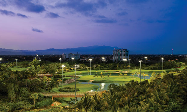 Vidanta under the lights in Nuevo Vallarta