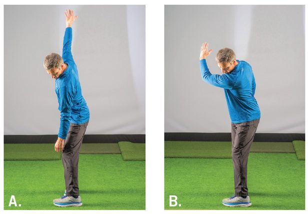 Backswing stretches used to improve mobility