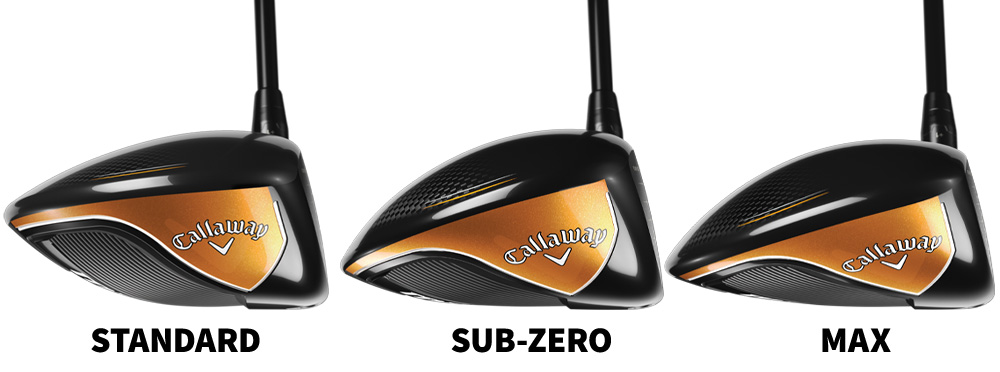 The three new Callaway MAVRIK Drivers