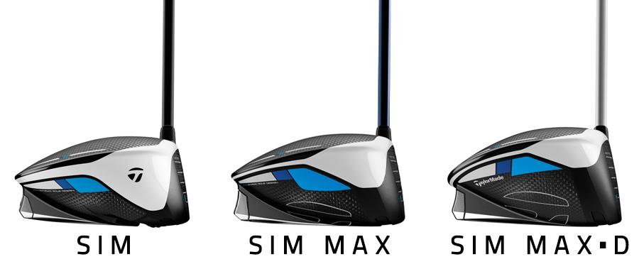 TaylorMade SIM driver comparison