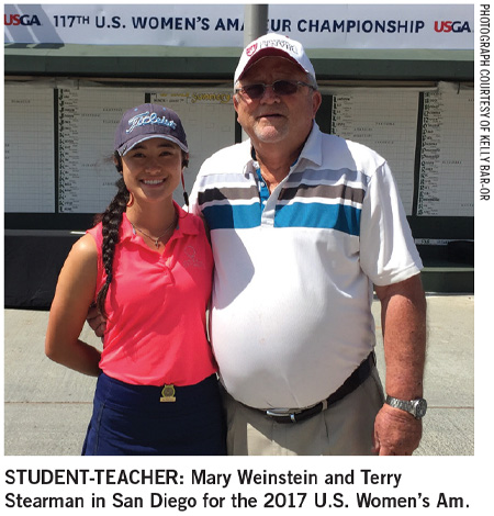 Mary Weinstein and Terry Stearman in San Diego for the 2017 U.S. Women's Am.