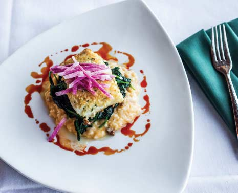 The Halibut served at Blackstone Country Club