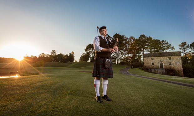 Sunset Bagpiper at Renaissance Ross Bridge Golf Resort & Spa, Birmingham, Alabama
