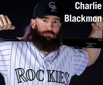 Charlie Blackmon of the Colorado Rockies at Spring Training