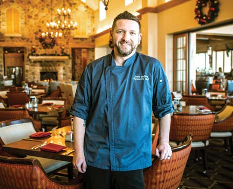 The chef at Blackstone Country Club