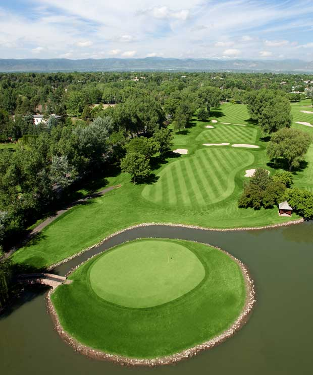 Cherry Hills Country Club in Cherry Hills, Colorado (Photo courtesy Premier Aerials)