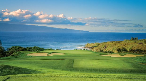 The par-3 11th at Kapalua Plantation Course