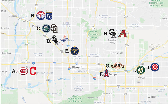2020 Spring Training Map