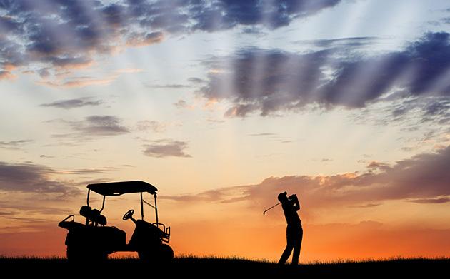 Twilight Golfer