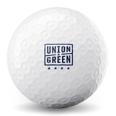 Union Green golf ball by The Acushnet Company