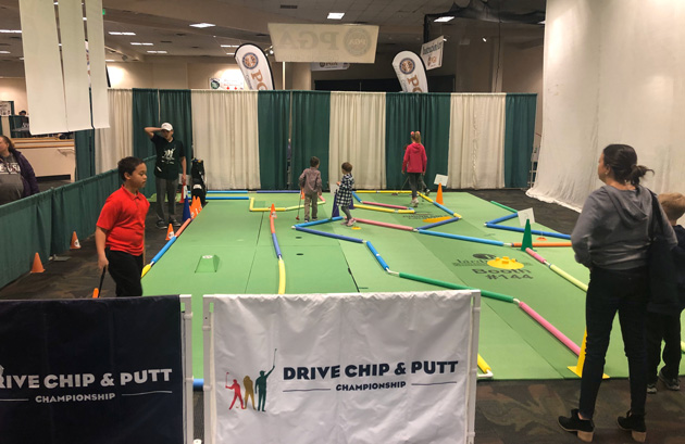 Drive Chip and Putt area at Denver Golf Expo