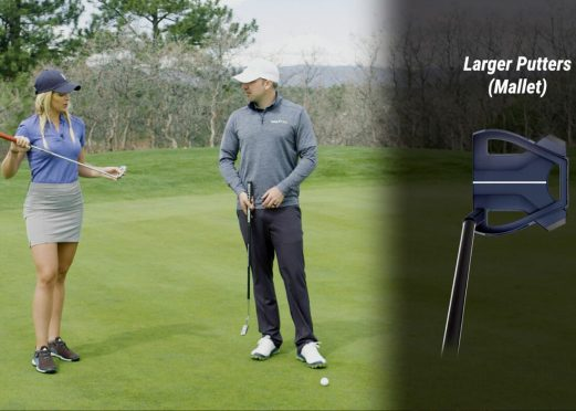GOLFTEC coach and student discuss putter types