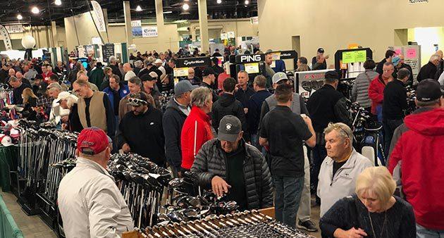 Golfers at Denver Golf Expo