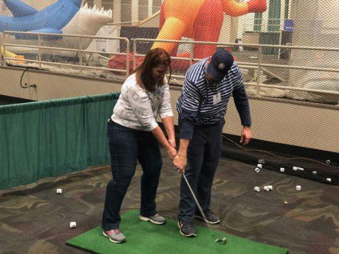PGA Golf Lesson at Denver GOlf Expo