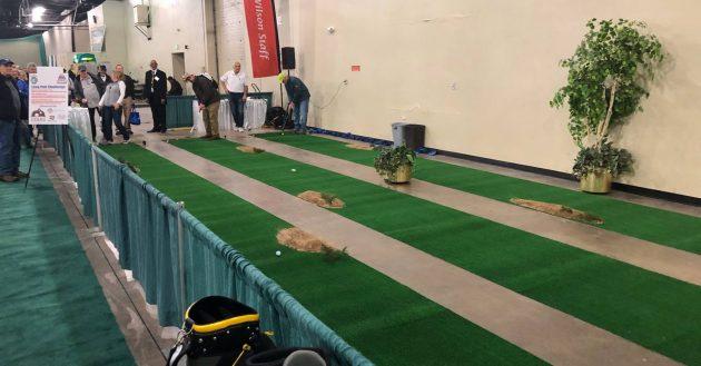 Long Putt Contest at Denver Golf Expo